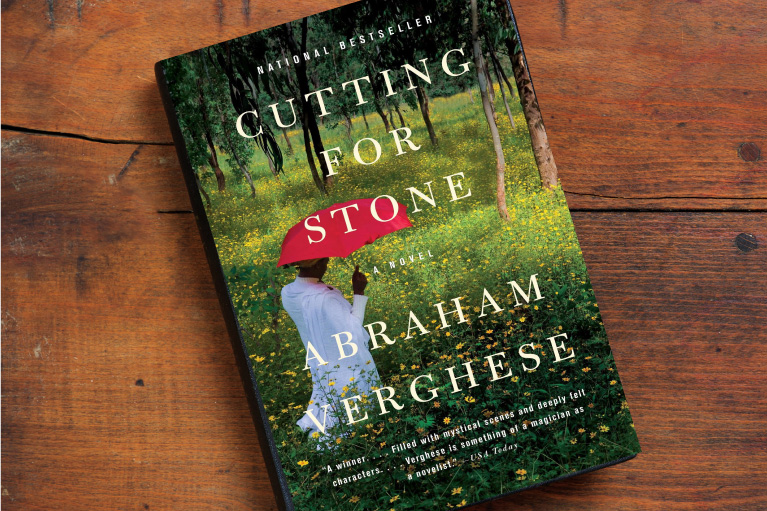 A photo of the book Cutting for Stone by Abraham Verghese