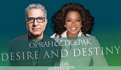 Oprah and Dr. Deepak Chopra guide us through a 21 day meditative meditation experience