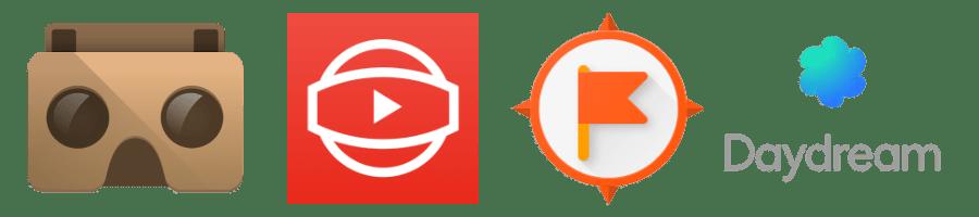 Google VR Logos (header for Geo4Edu Site)