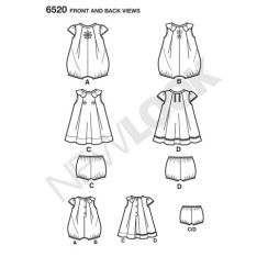 newlook-baby-romper-pattern-6520-front-back-view