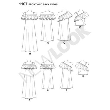 newlook-off-shoulder-pattern-6507-front-back-view