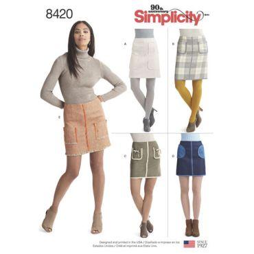 simplicity-pocket-skirt-pattern-8420-envelope-front