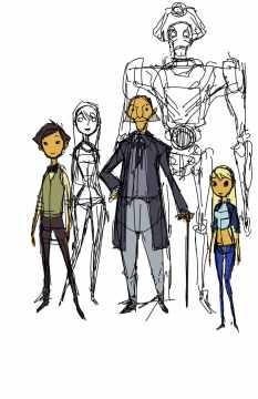 El Doctor y sus acompañantes.