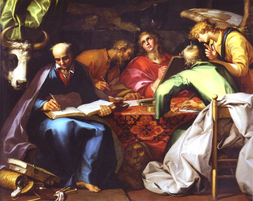 The Four Evangelists (with Luke on the left), by Abraham Bloemaert 1566-1651