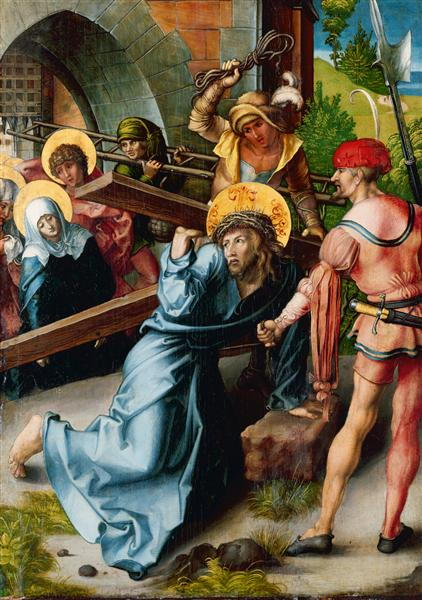 Seven Sorrows-Carrying of the Cross-by Albrecht Durer 1471-1528
