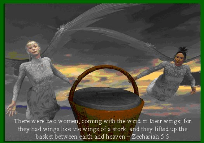 Zechariah's Vision of the Woman in the Basket means God Will Rid The World of Sin - Theology in Perspective