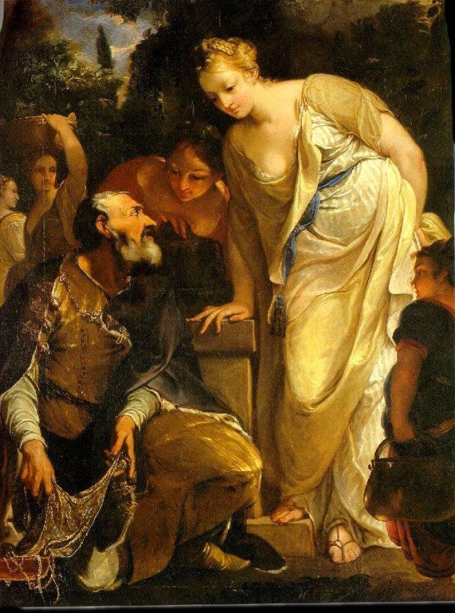 Rebecca at the Well by Antonio Bellucci cir. 1700