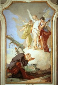 The Angels Appear to Abraham by Giovan Battista Tiepopo Cir 1696-1770