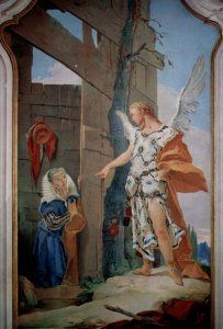 The Angel Appears to Sarah by Giovan Battista Tiepolo Cir. 1696-1770