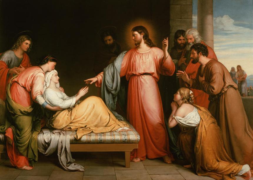 Jesus Healing the Mother of Simon by Peter John Bridges Cir 1818-1954