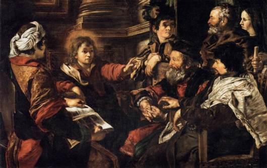 Jesus Among the Doctors by Giovanni Serodine cir 1626