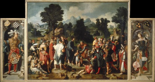 Healing of the Blind of Jericho by Lucas van Leyden Cir. 1531