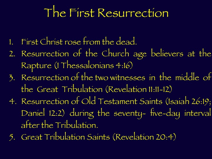 The First Resurrection Stages