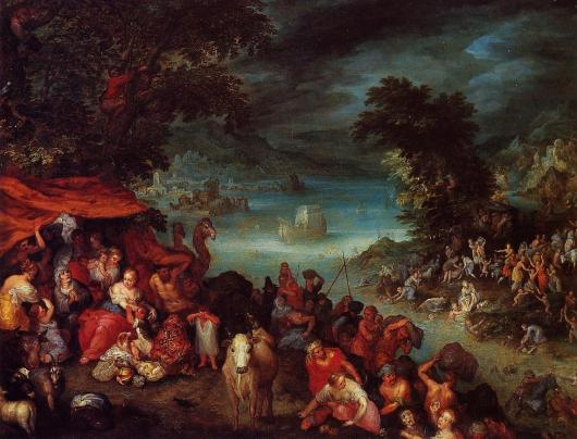 The Flood by Jan Brueghel il Vecchio Cir 1600