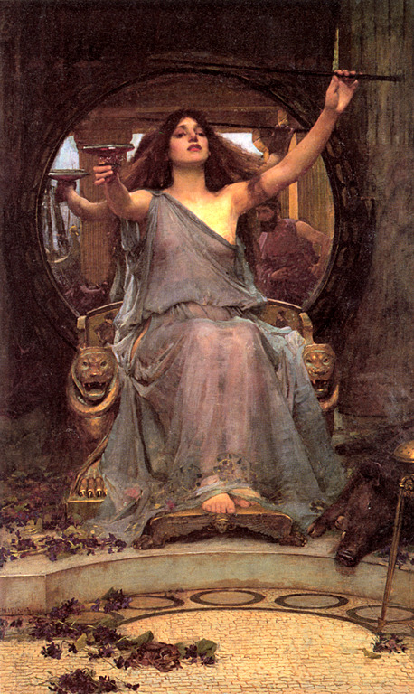 Circe Offering the Cup to Ulysses, By John William Waterhouse, 1891