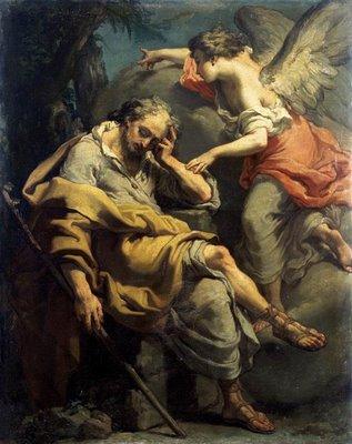 Joseph's disgrace upon hearing that Mary was pregnant. By Gaetano Gandolfi cir 1790.