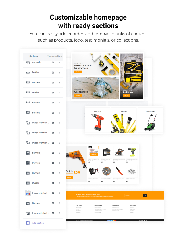 Pixee - Tools Store Shopify Theme - 3