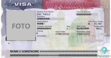 Visa USA (Visto Americano) (Foto: Documento de Viagem)