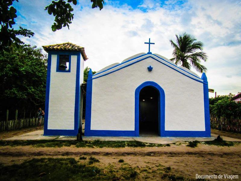 Igreja de São Sebastião na Vila de Caraíva