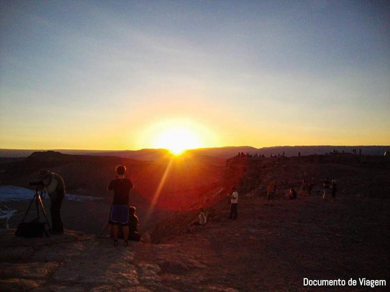 Atacama pôr do sol