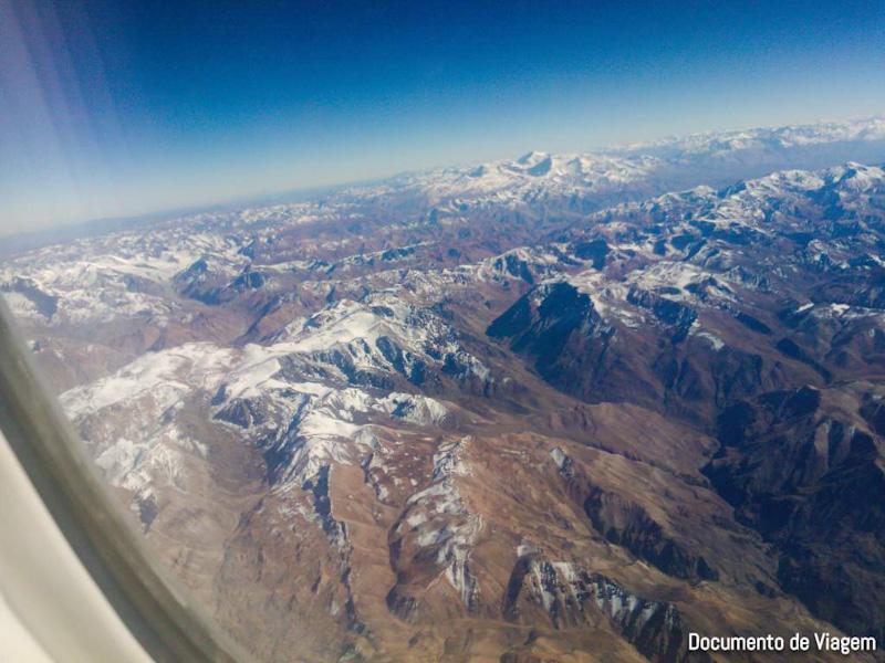Sobrevoando a Cordilheira dos Andes