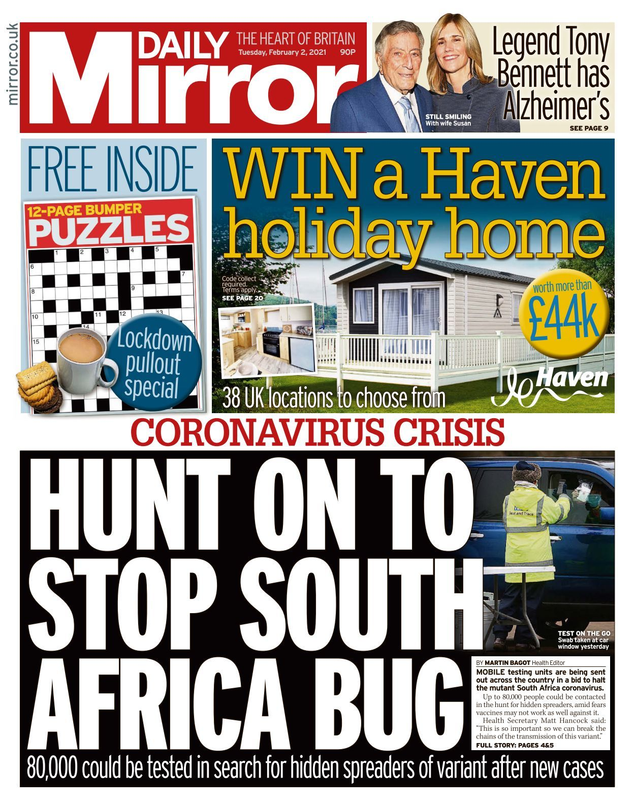 Daily Mirror 2021 02 02