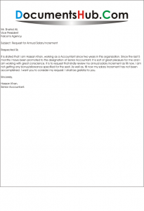 Request for Salary Revision Letter Format