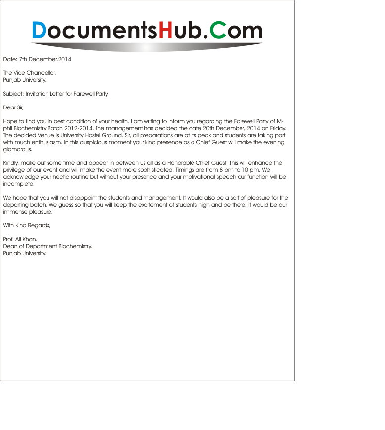 Invitation letter to chief guest documentshub invitation letter to chief guest altavistaventures Gallery