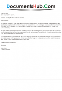 Cover Letter for Teachers