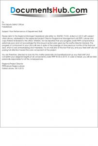 Warning Letter for Poor Performance Format
