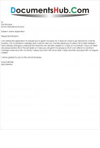 Leave Application for Teachers