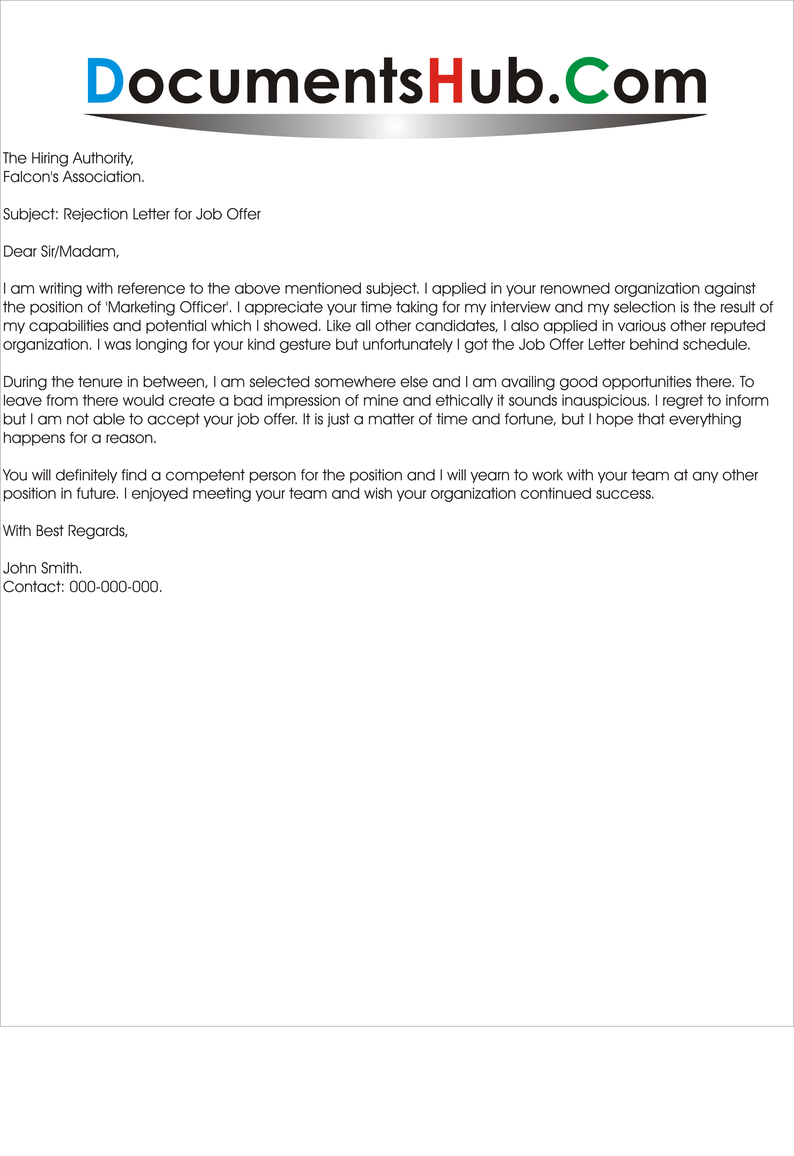 How To Handle Job Rejection Letter