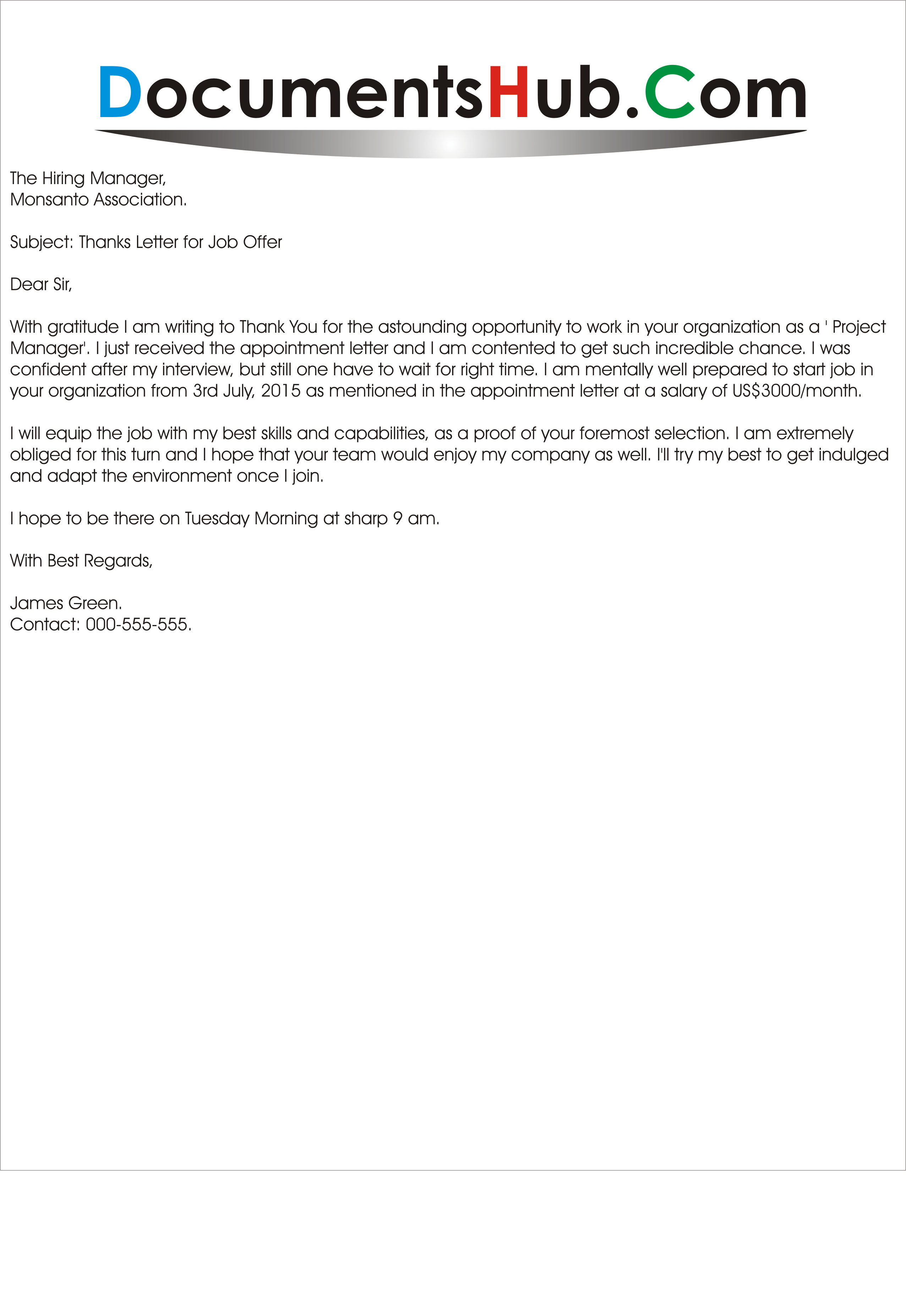 Writing Job Offer Thank-You Letter