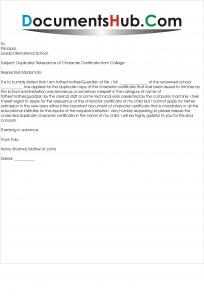 Application Letter For Bonafide Certificate From School