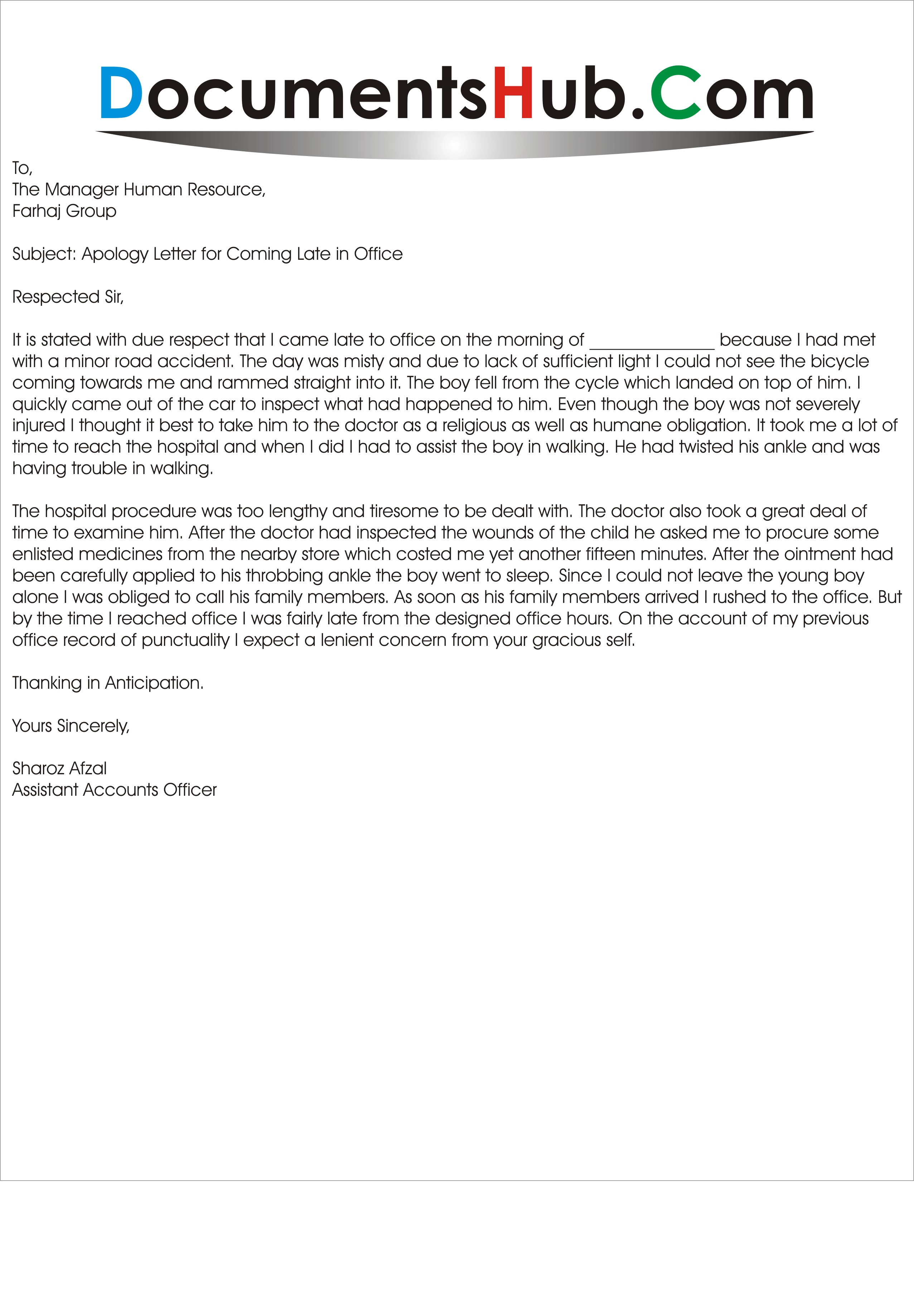 Apology Letter To Boss Sample