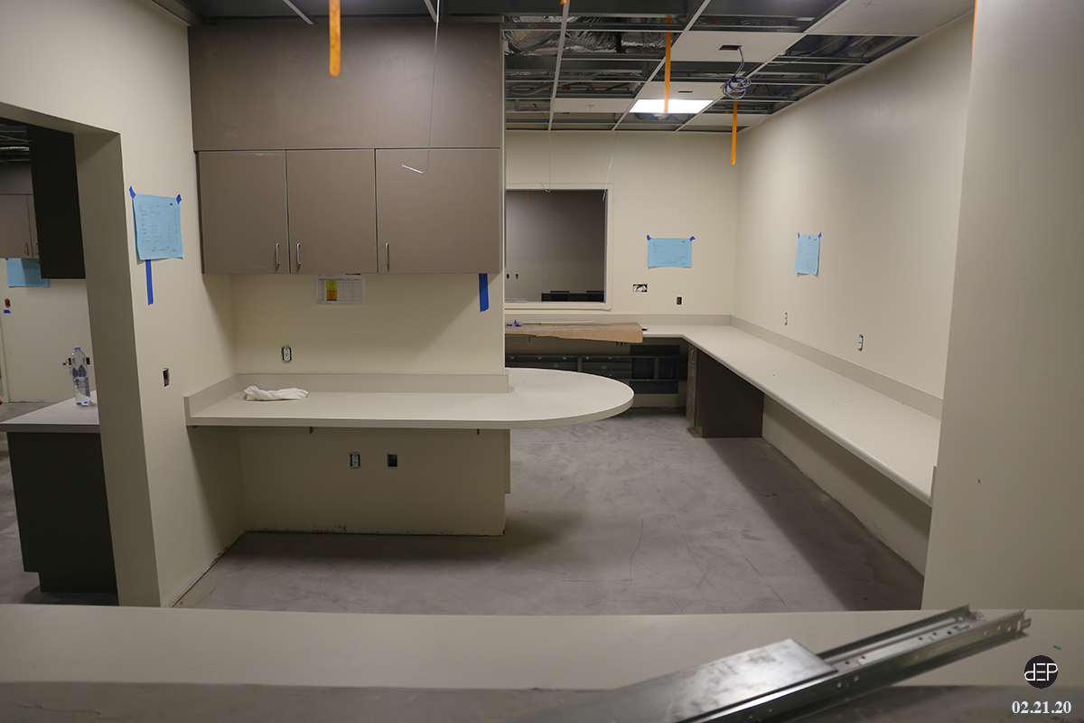 From Doors To Countertops Signs Of Finish Work On The Second Floor Plus Some Nursing Stations Are Installed In The Emergency Department Docuvision 2020