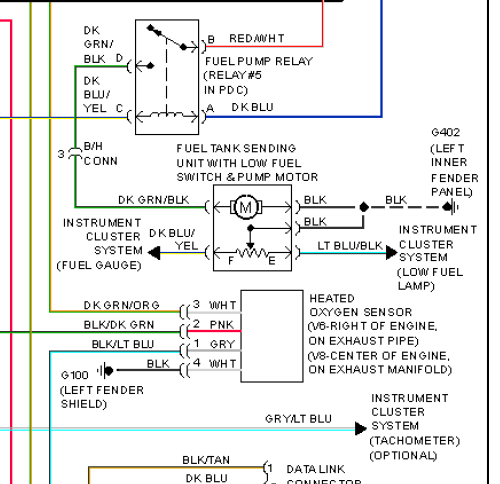 73964d1501355396 diy fuel pump or fuel gauge trouble shooting no dial up friendly dakota93_94_fuel system diagram?resize\\\=500%2C484\\\&ssl\\\=1 2000 dodge durango wiring diagram & isx engine diagram 2000 jeep 1995 Dodge Dakota PCM Connector Check Repair at bayanpartner.co