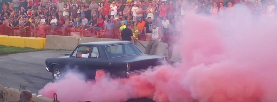 Classic Dodge Dart looks like a Plymouth Valiant, does great burnouts