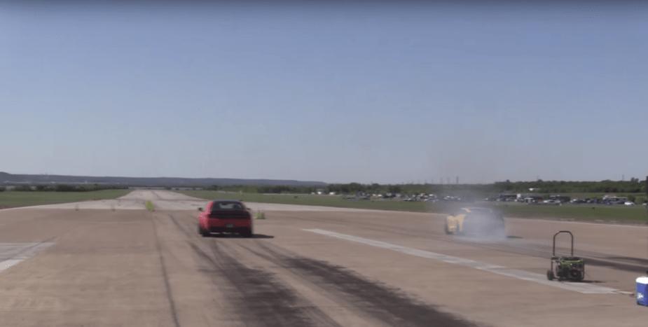 Dodge Demon Half Mile runway racing