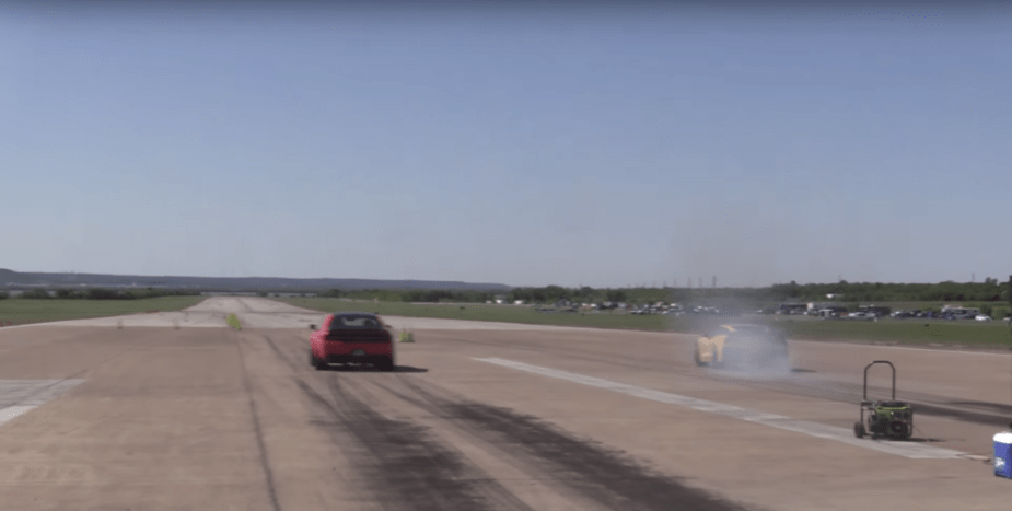 Dodge Demon Half Mile runway racing