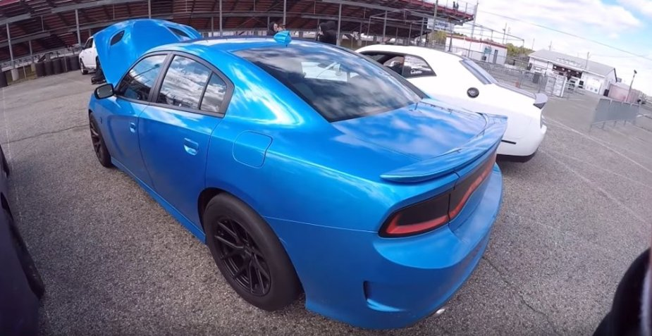 B5 Blue Hellcat Charger Rear