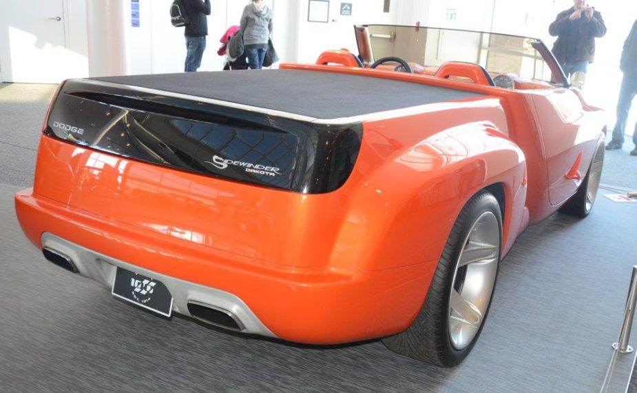 Dodge Sidewinder Viper Rear Corner Top Down