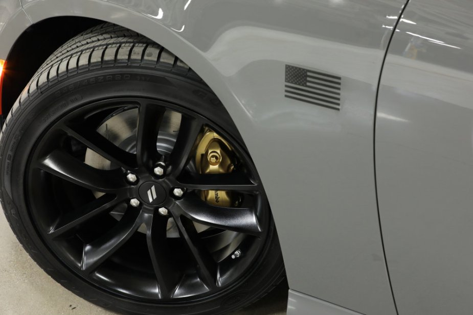 The Stars & Stripe Edition features Satin Black American Flag fender decals and Bronze four-piston Brembo brake calipers on Scat Pack models, packaged with Performance Handing group on GT and R/T models.