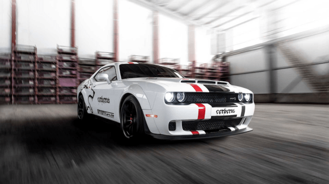 """Dodge Challenger Hellcat """"Cerberus"""" tuned by GeigerCars."""