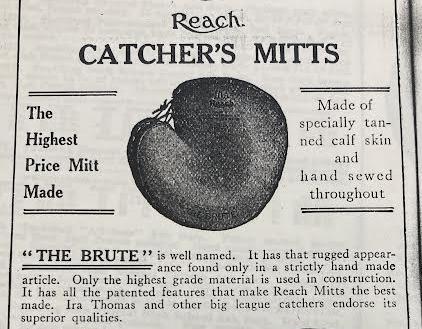 Catcher's mitt 1918