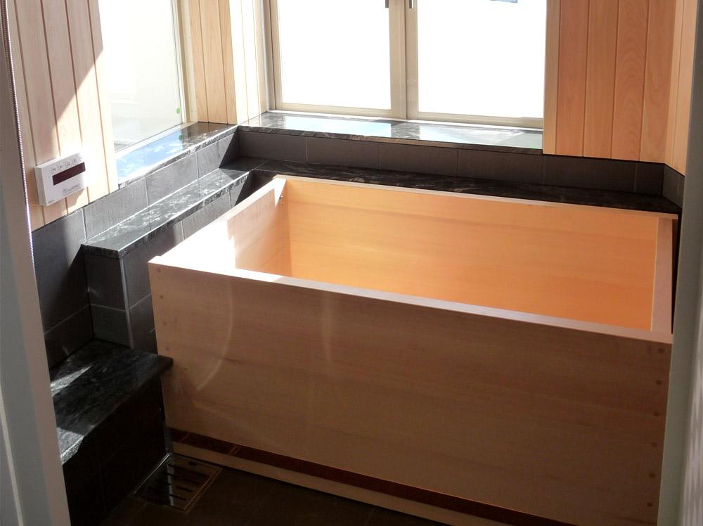 兵庫県-N邸檜風呂