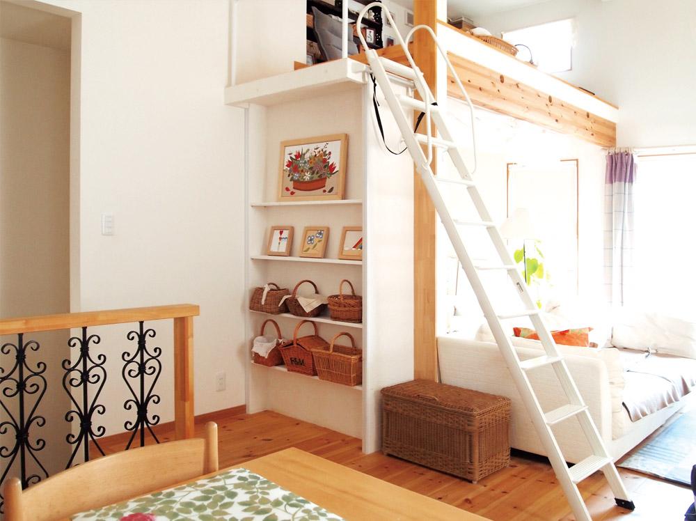 兵庫県神戸市・O邸リビングルームとロフト