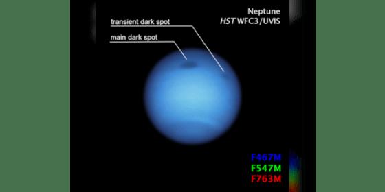 (NASA, ESA, SDSCI, MH Wong / University of California, Berkeley and LA Sromovsky and BM Fry / University of Wisconsin-Madison)