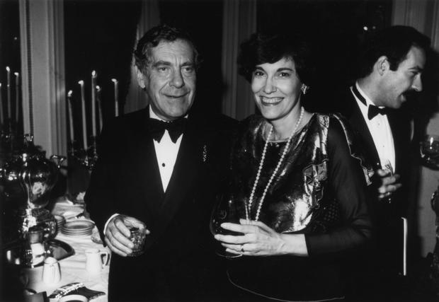 Morley Safer and his wife, Jane Safer. source : cbs