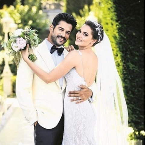 Burak with his girlfriend named, Fahriye Evcen